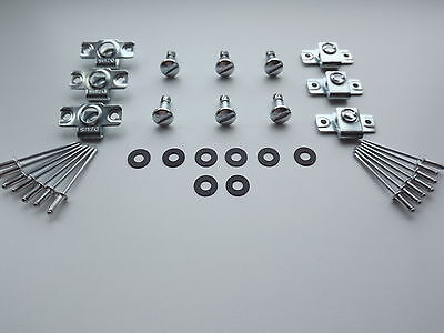 Dzus Fairing & Panel Fasteners Slotted Head 17Mm Stud Length 6 Pack