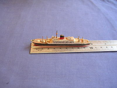 1/1250 ? Vintage Waterline Wooden Model Ship Scratch Oceon Liner Rms Saxonia