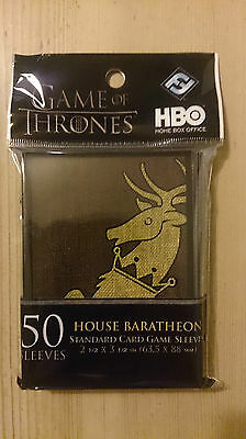 FFG - Standard 50 House Baratheon Card Game - Limited Edition Art Sleeves