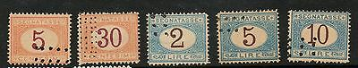 Italy Collection Postage Due Segnatasse