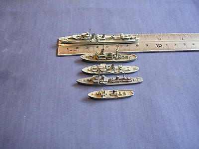 1250/1 Scale Waterline Model Ships In Metal Mixed Group