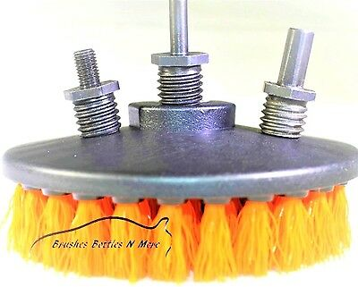 """NEW Medium Car Carpet Mat 5"""" Round drill Brush with Power Drill Attachments"""