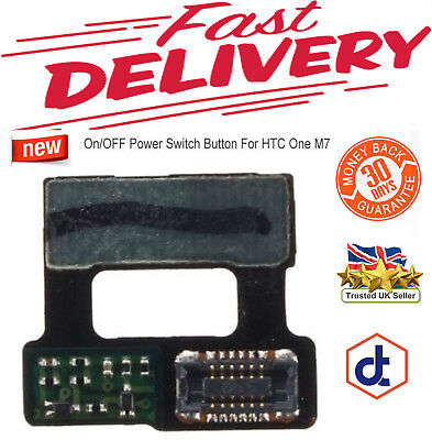 New On/OFF Power Switch Button Flex Ribbon Replacement Part For HTC One M7
