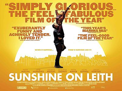 """Sunshine on leith 16"""" x 12"""" Reproduction Movie Poster Photograph"""