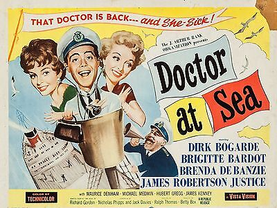 """Doctor at sea 16"""" x 12"""" Reproduction Movie Poster Photograph"""