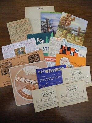 Big Lot of Vintage Ephemera Collectible Papers and Advertising