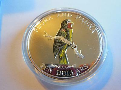 Bahamas Parrot $10 1995 5 Oz Proof Coloured Silver Crown Mintage 2500!!