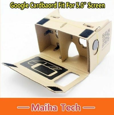 "5.0"" Screen DIY Google Cardboard Virtual Reality VR 3D Glasses Google CEAP007"
