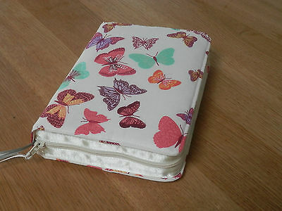 NWT 2013 Pocket Edition Zipped Fabric Bible Cover - Butterflies