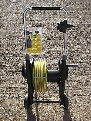Kärcher 20m Water Hose Reel Pipe Wheeled Hose Trolley HT 4500 - Never Used - New