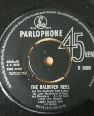 """Jimmy Shand The Baldoven Reel / The White Heather Jig  7"""" Single . Great Cond"""