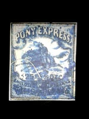 Usa1860,pony Express 25C  Printed By Wells Fargo Replica