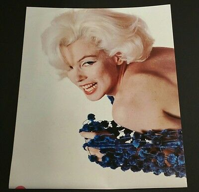 """"""" Marilyn Monroe"""" SMILE, Blue / 17""""x21"""" Commercial Movie Poster"""