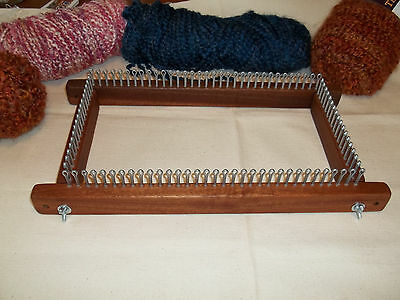 """12"""" Knitting Board / Long Loom - With Peg Extensions - Any Gauge - Cottage Looms"""