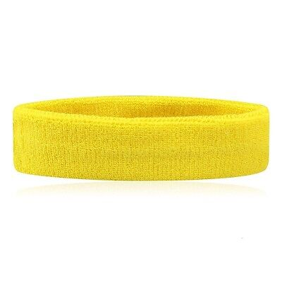 Headband Terry Cloth Rugby Tennis Gym Workout Yoga Exercise Fitness Sweatband