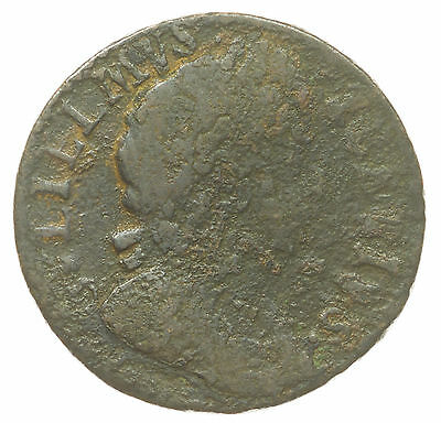 Great Britain, William Iii Farthing, Scarce, 1699