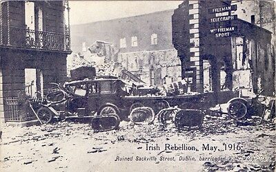 Seven Original 1916 Postcards of The Irish Rebellion in Dublin