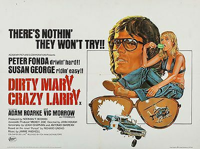"""Dirty Mary crazy larry 16"""" x 12"""" Reproduction Movie Poster Photograph"""