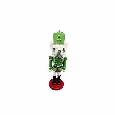 French Bulldog Dog Toy Soldier Nutcracker Christmas Ornament