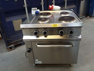 Hobart Commercial 4 Ring Electric Cooker Hob Range And Oven
