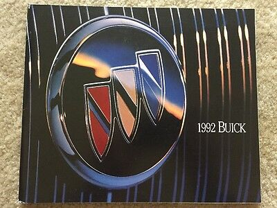 1992 Buick FULL LINE Sales Brochure, 78 Pages, Regal, Riviera, Roadmaster, More