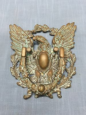Antique BRONZE / BRASS EAGLE DOOR KNOCKER ~ LARGE~ Beautiful Patina !