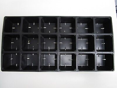 Set of 10 SHEETS 1801 Tray Inserts Packs New Plastic (180 cells; fills 10 flats)