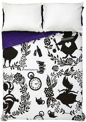 Disney Alice In Wonderland Silhouette Print Full / Queen Sized Quilt NEW!