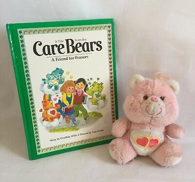 Vintage 1980's Care Bears Book, A Friend For Frances & Love A Lot Care Bear 7""