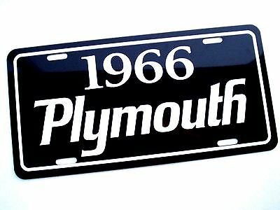 1966 Plymouth license plate tag 66 Barracuda Satellite Sport Fury Belvedere