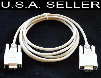 DB9 Male to DB9 Male Serial Cable 6 Feet