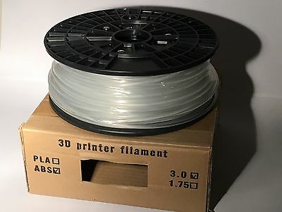 Clear ABS Filament For 3D Printing. 1kg, 3mm, Boxed.