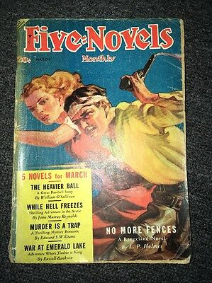 U.S.A. Pulp Magazine - FIVE NOVELS MONTHLY March 1939