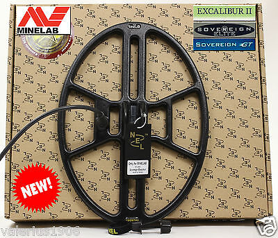 "New NEL THUNDER 14.5""x10.5"" DD search coil for Minelab Sovereign/Excalibur + acc"