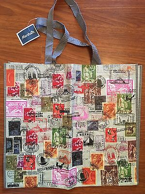 NEW Shopping Bag Reusable Travel Tote Stamps Stamp Huge Marshals NWT