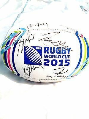 McCAW Carter Reid Smith ALL BLACKS Autograph Proof COA SIGNED New Zealand ball