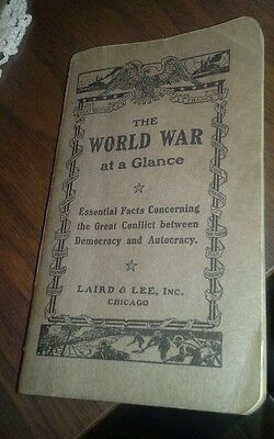 Vintage The World War at a Glance WWI publication 1918 great conflict paperback