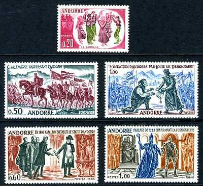 Andorra 1963-64 French Admin 1st and 2nd Historical Sets MNH   D945