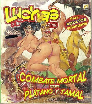 """LUCHAS CALIENTES """"WRESTLING"""" ADULT mexican comic SEXY GIRLS SPICY #22"""