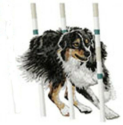 Australian Shepherd (agility) Embroidery Patch