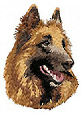 Tervueren Shepherd portrait  embroidery patch