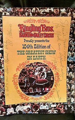 Ringling Bros & Barnum & Bailey Ring Master Harold Ronk & Mystery Autograph..