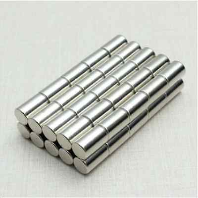 50pcs N52 Strong Neodymium Magnets Discs Cylinder Rare Earth 6x10mm