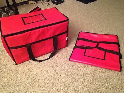 Brand New Lot Of 2 Insulated Pizza Delivery Bags