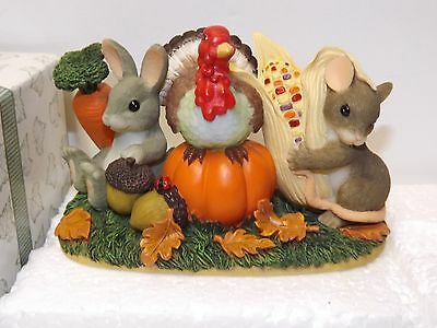 Charming Tails Be Thankful for Friends Figurine Signed Dean Griff ~ #85/500