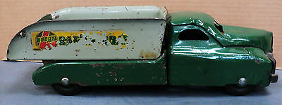 Buddy L sand and gravel 1940's Green cab gray box 13 inches long with tailgate