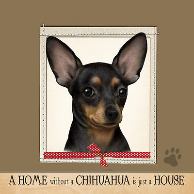 Chihuahua Black Soft Couch Dog Breed Throw Pillow