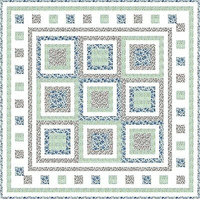 "BLOOMING FIELDS - 47"" - Quilt-Addicts Pre-cut Patchwork Quilt Kit Lap"