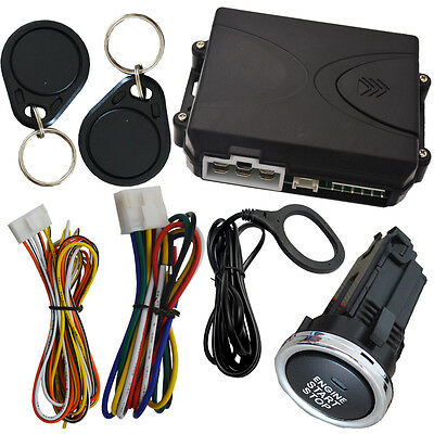 rfid long engine button start stop system working with car alarm system