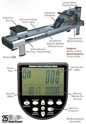 Waterrower M1 Hi-Rise Commercial Rowing Machine